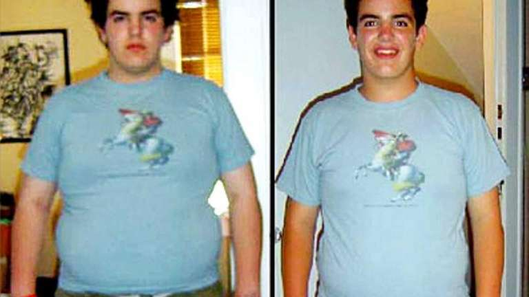 Daniel Kriss, 18, lost 37 pounds by exercising