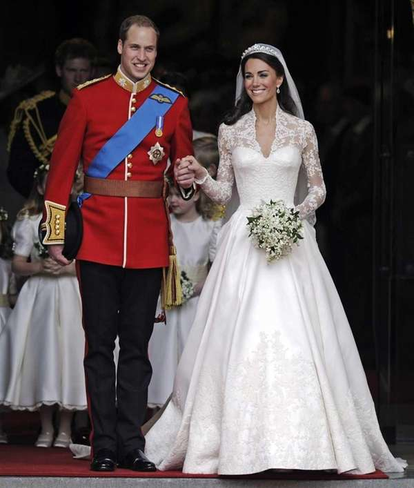 Britain's Prince William and his wife, Kate, Duchess