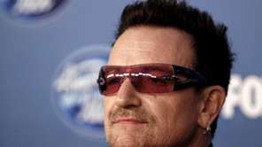 Bono is seen backstage at the