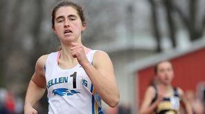 Kellenberg's Maureen Lewin wins the 1500 meter run,