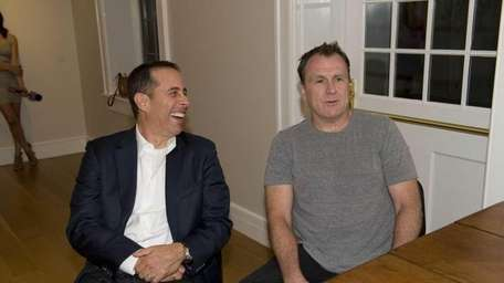 Jerry Seinfeld and Colin Quinn after the first