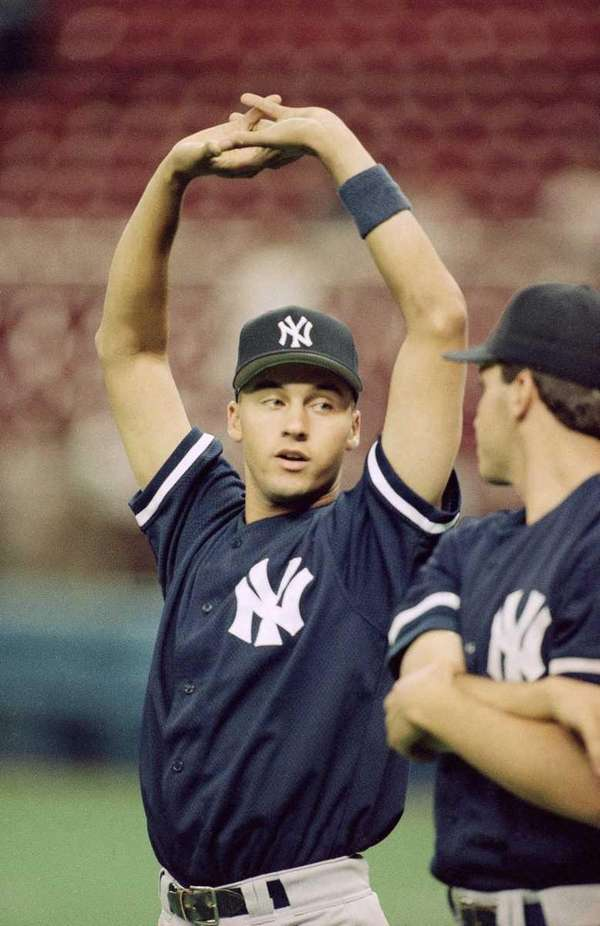 Rookie Derek Jeter of the New York Yankees