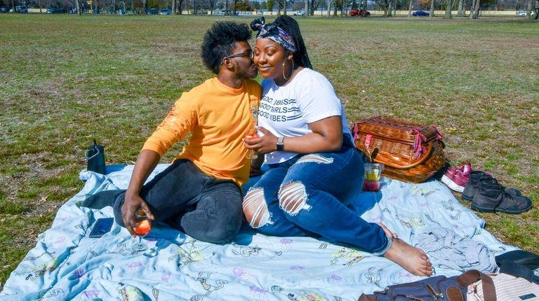 Matthew, 24, and Alyssa, 23, enjoy a sun