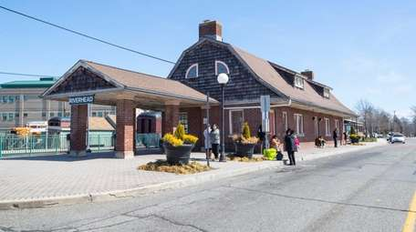 The LIRR station in Riverhead on Saturday where