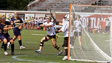 Northport's #5 Allie Breitfeller scores a goal at