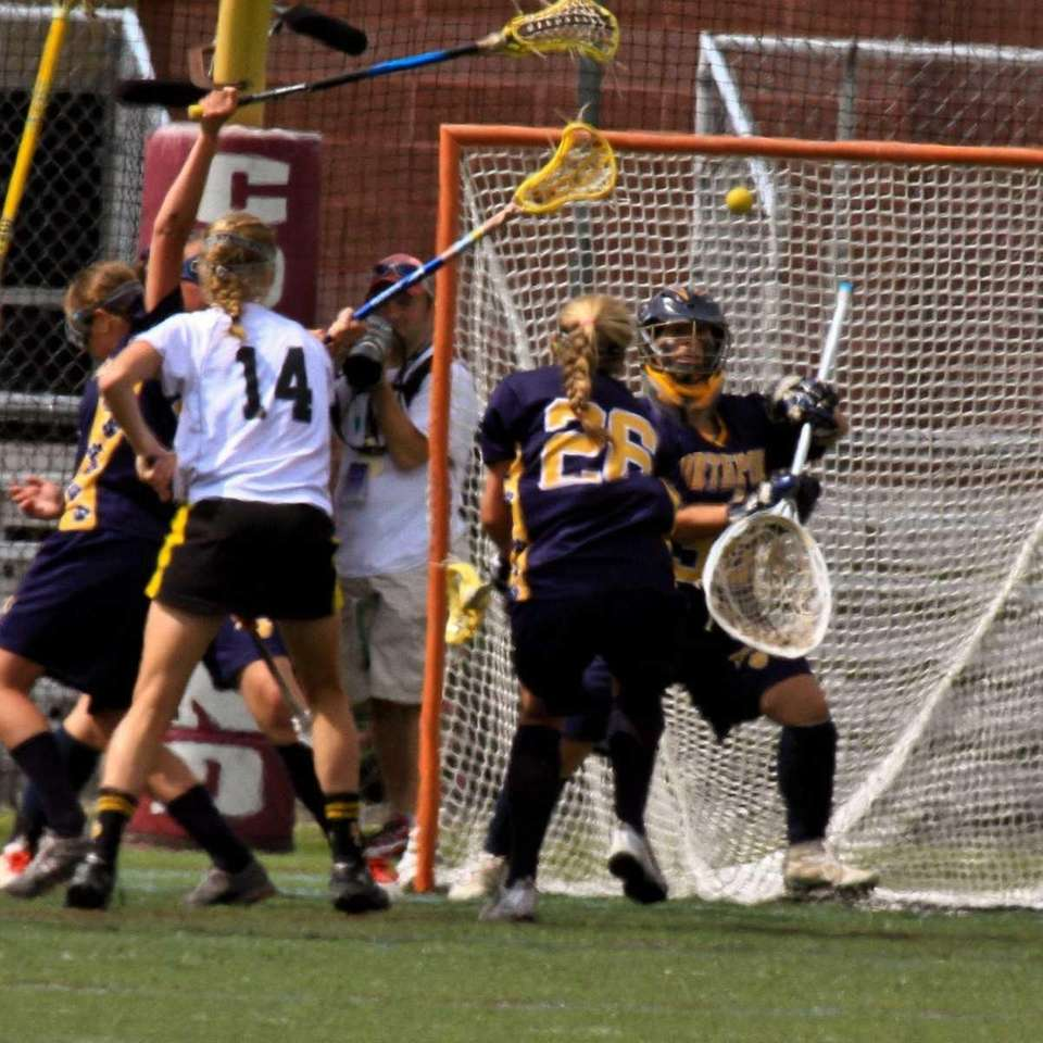 Northport's goalie blocks a shot attempt. (June 10,