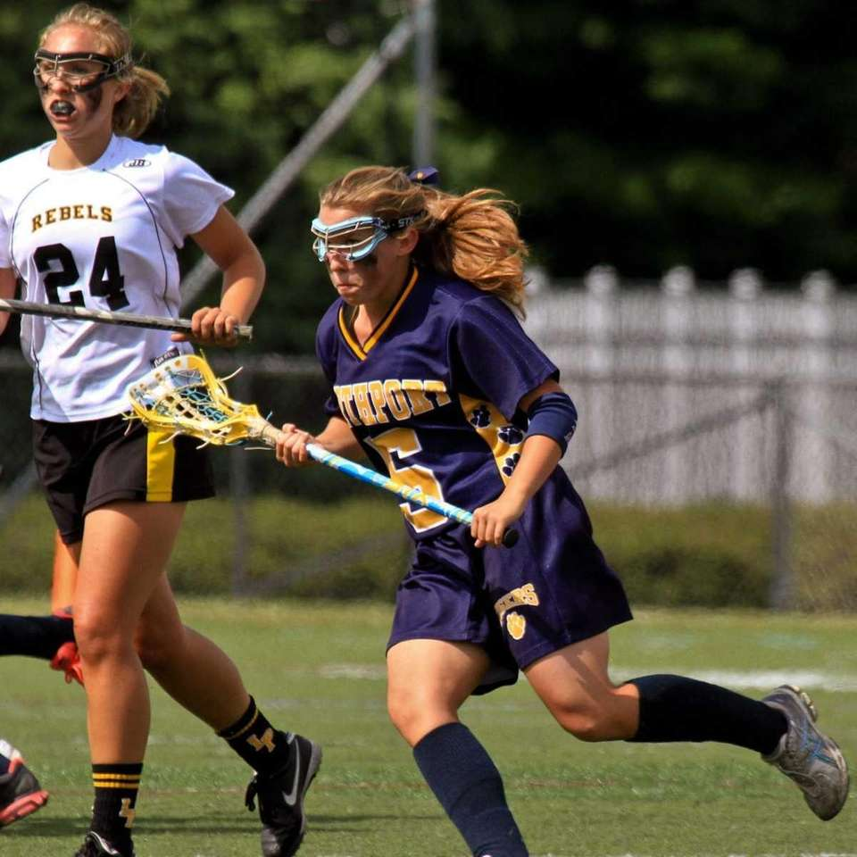 Northport's #5 Allie Breitfeller runs to intercept a