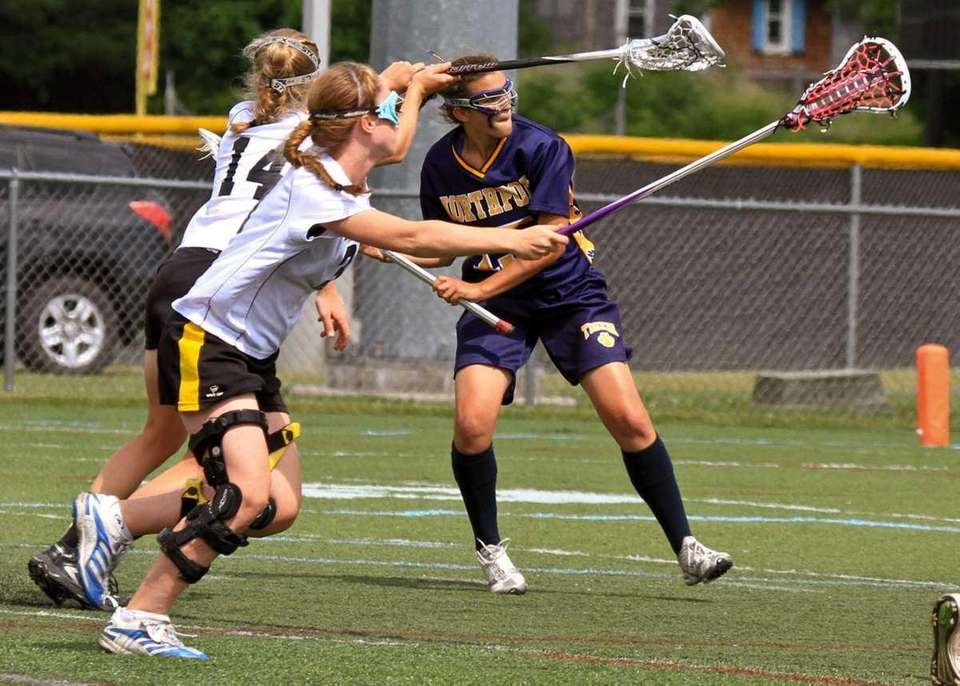 Northport's #15 Cortney Fortunato scores a goal at