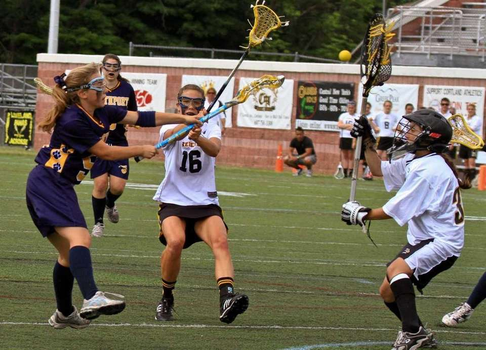 Northport's #5 Allie Breitfeller scores a goal. (June