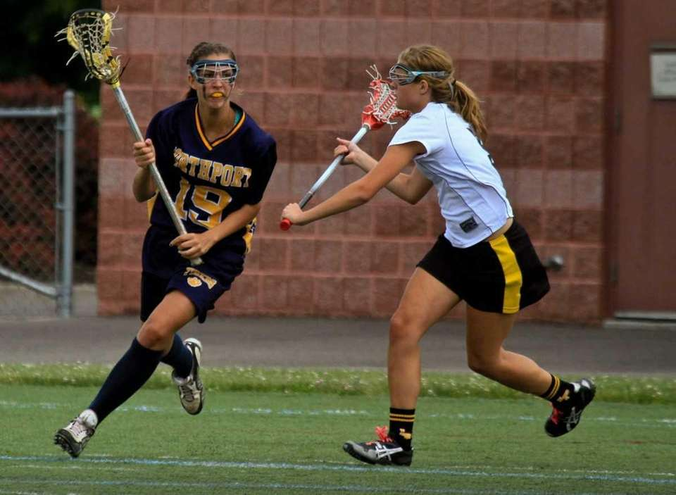 Northport's #19 Kiera McNally runs towards the goal