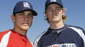 Ryan Garvey, 17 and Trevor Gretzky, 18, right,