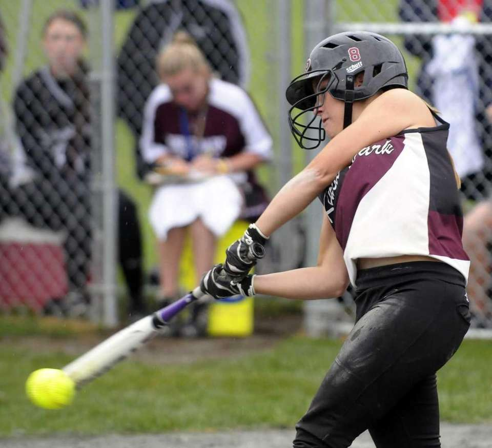 Kings Park's Nicole Brieva bats against South Glens