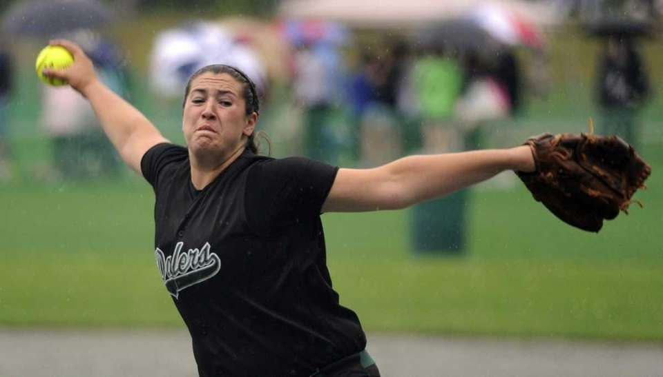 Farmingdale's Isabella Corrao pitches against John Jay-East Fishkill