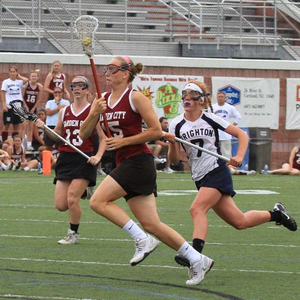 Garden City's Mikaela Rix runs towards goal against