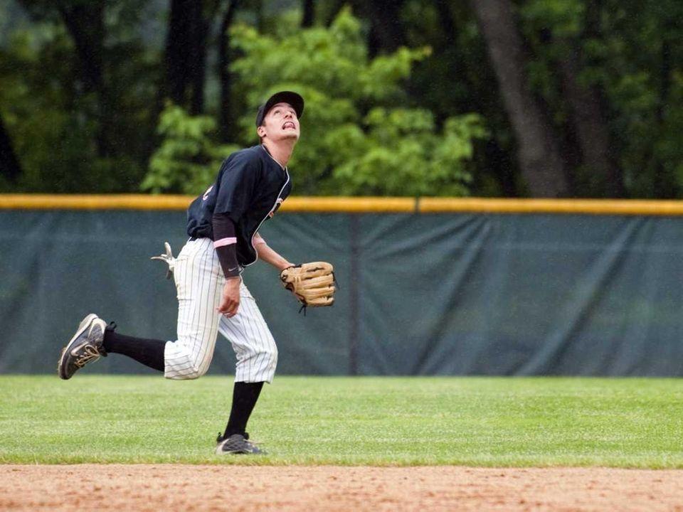 Carey shortstop Kyle Demeo tracks a ball headed