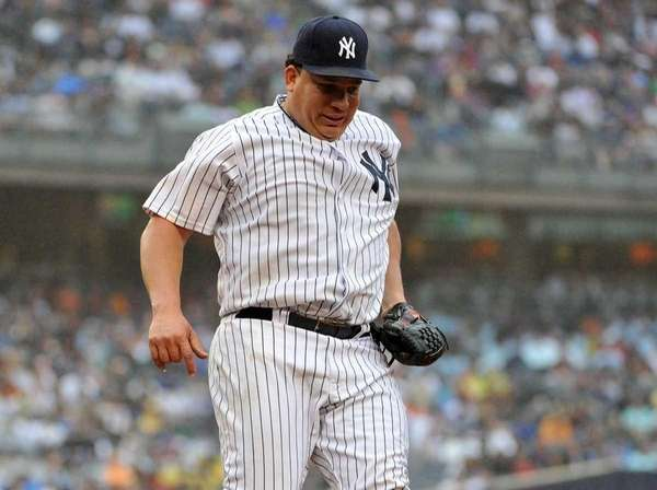New York Yankees starting pitcher Bartolo Colon (40)