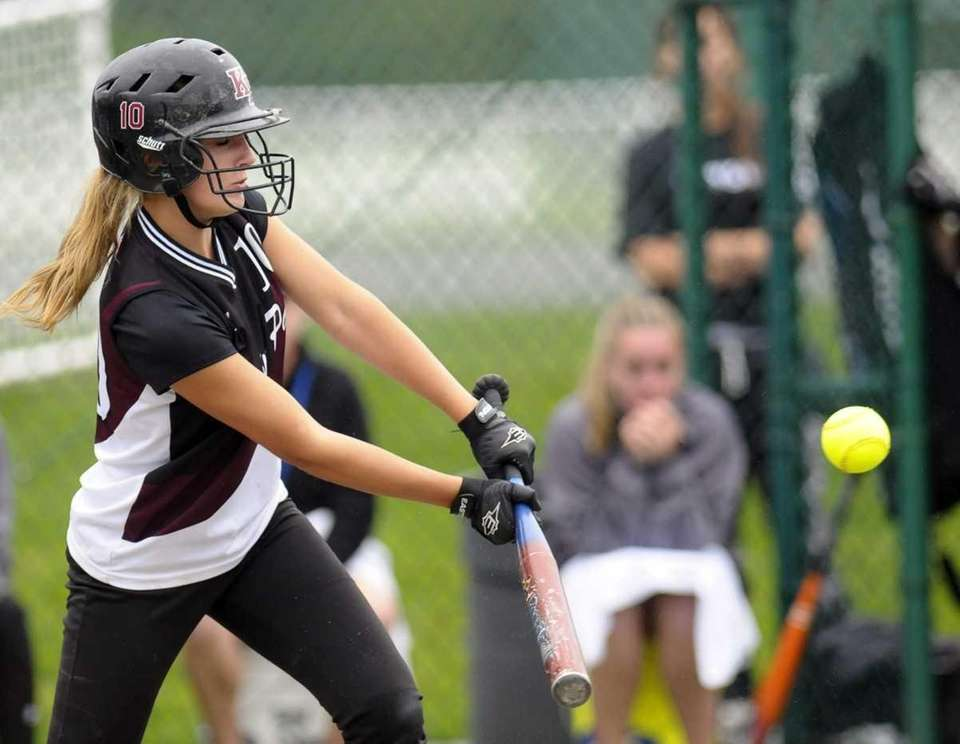 Kings Park's Paige Julich bats against Pittsford Mendon