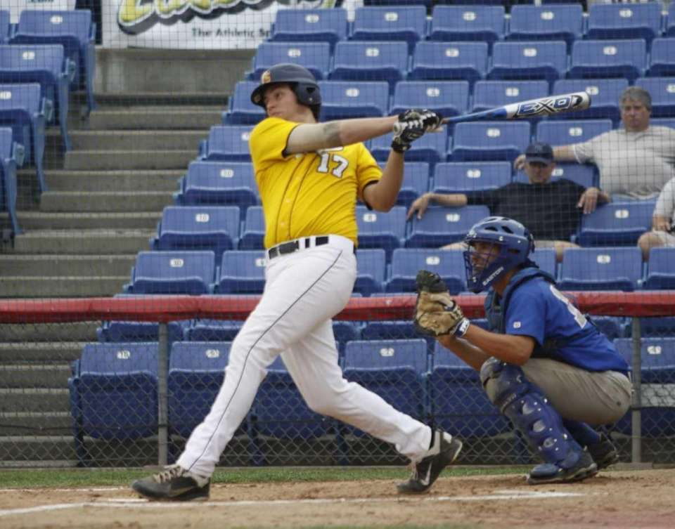 Zach Salvia of the Pittsford Sutherland Knights hits