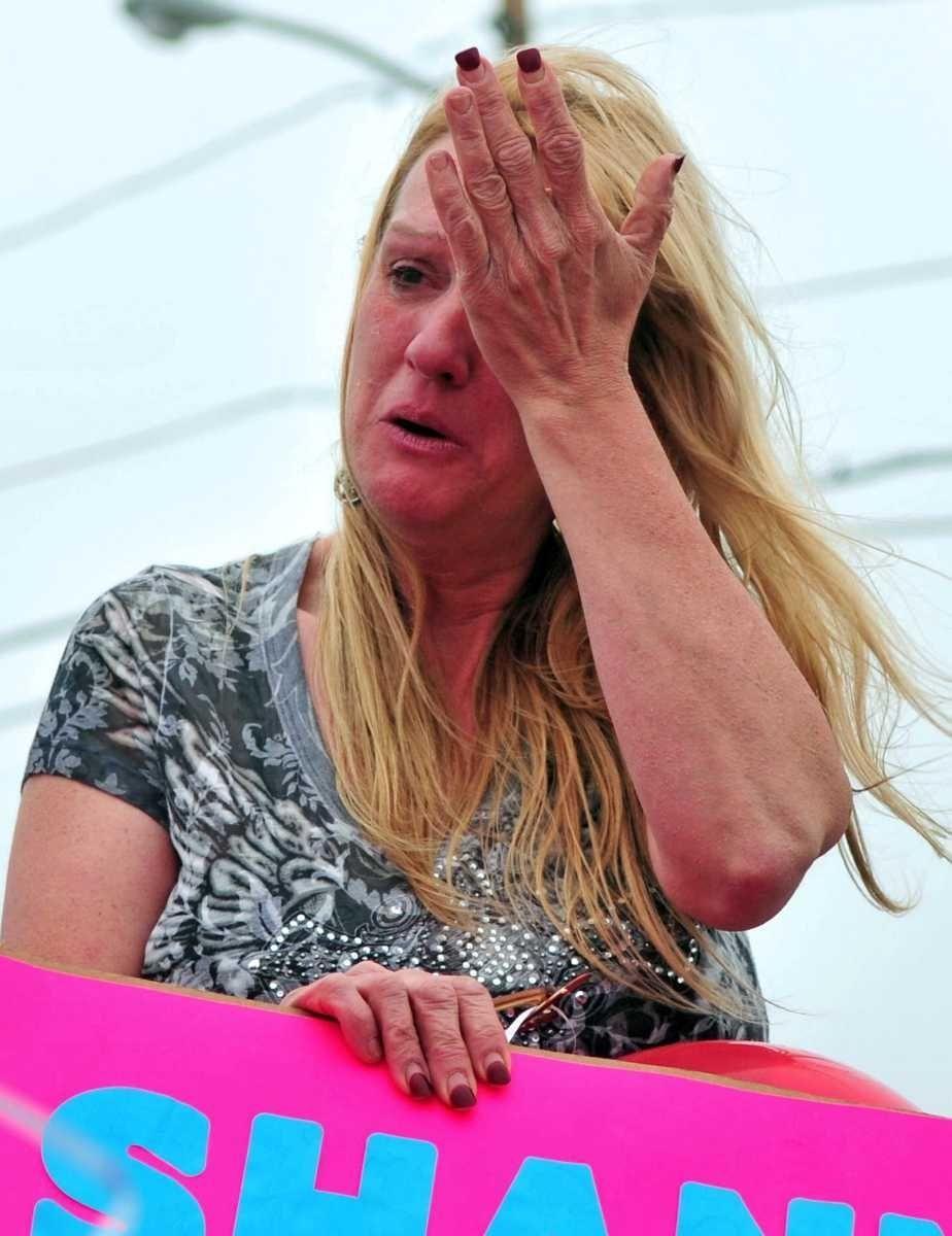 Mary Gilbert, Shannan Gilbert's mother, at the vigil