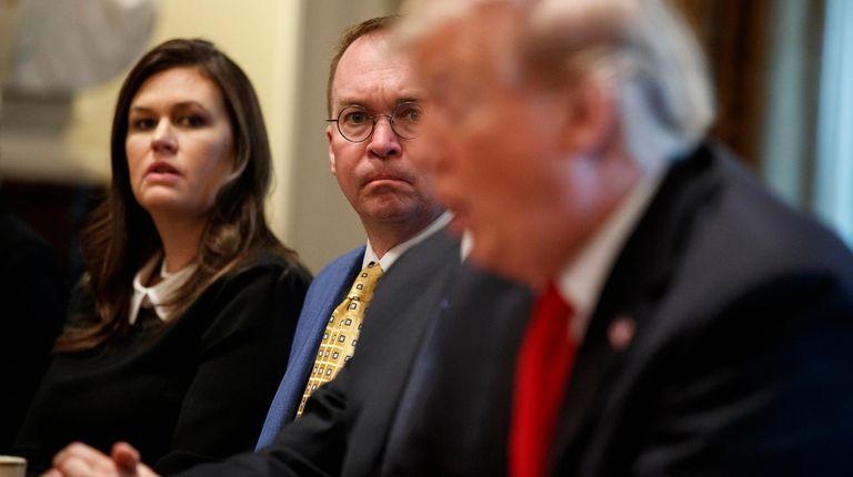 White House press secretary Sarah Huckabee Sanders and