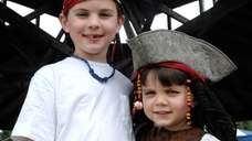 Trevor Diamond, 7, and brother Kyle, 3, of