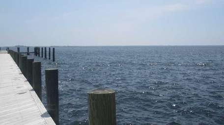 A view from Charles J. Cowan Marina in