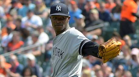 Yankees starting pitcher Domingo German took a no-hitter