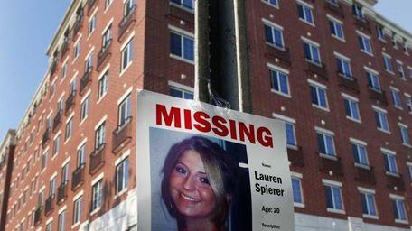 A missing person poster of Lauren Spierer, 20,