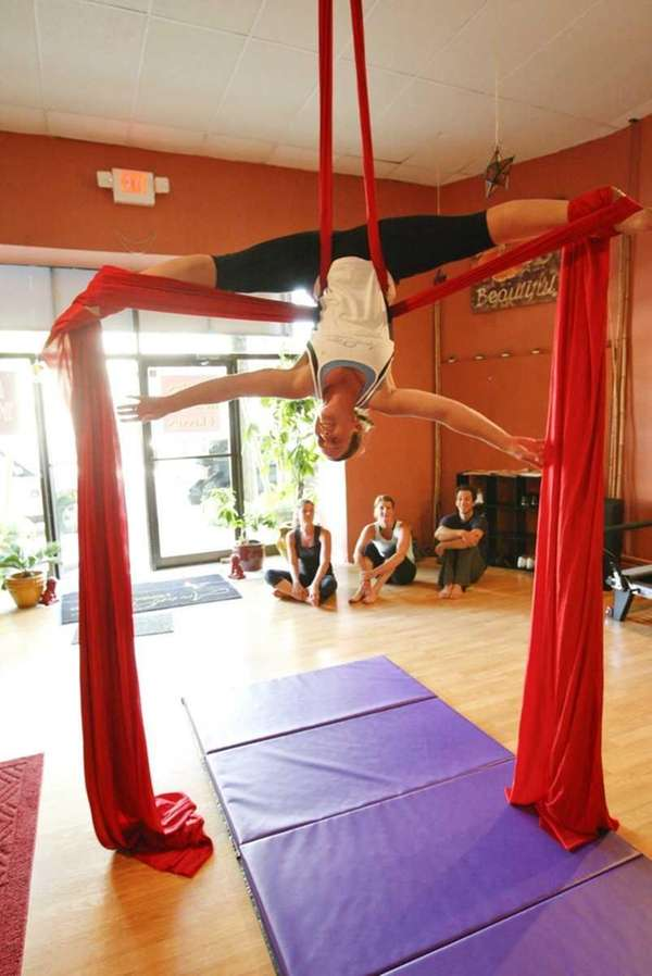 Candy Paparo from Calverton at Aerial Fitness. Aerial
