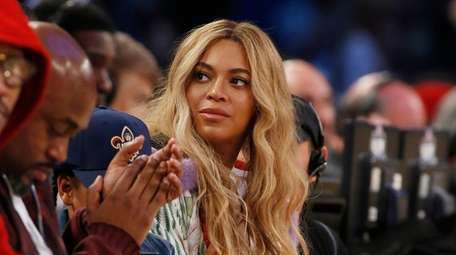 Beyoncé attends the NBA All-Star basketball game in