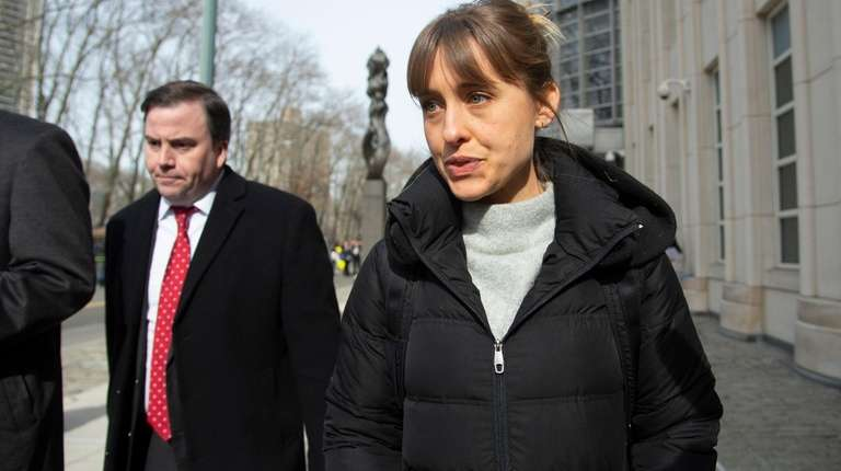 Allison Mack, who pleaded guilty Monday to racketeering