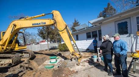 A septic system is installed at the home
