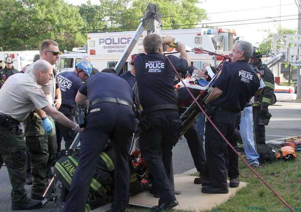 Nassau County police Emergency Services Unit officers freed