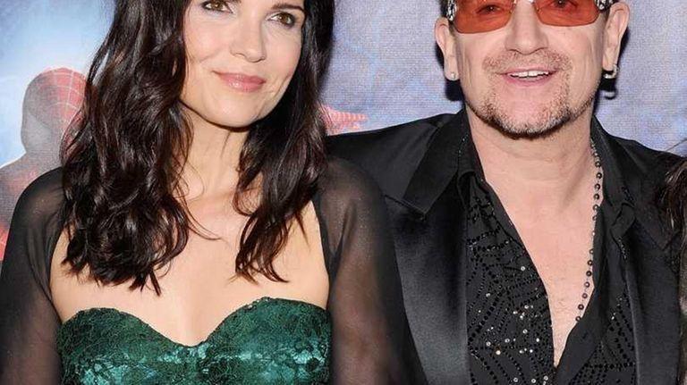 Ali Hewson and Bono of U2 attend