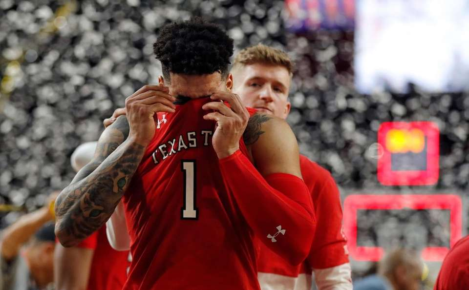 Texas Tech guard Brandone Francis reacts at the