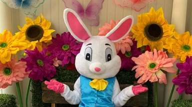 Meet the Easter Bunny at Dees' Nursery (69