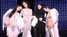 Teal Wicks, left, Stephanie J. Block, Cher and