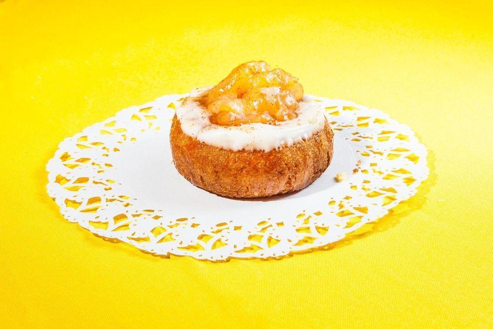 Apple Pie doughnut at Spiga Bakery in Bellmore,