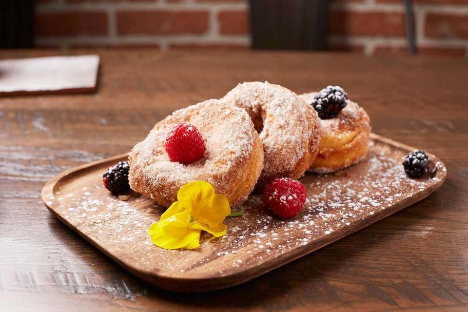 Finish your meal at Wildfeast with cinnamon doughnuts.