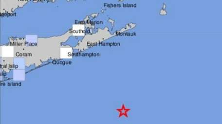 USGS map of LI, with the star indicating