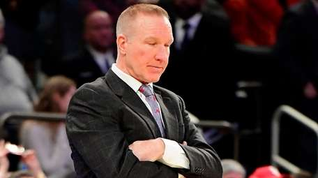 St. John's head coach Chris Mullin reacts to