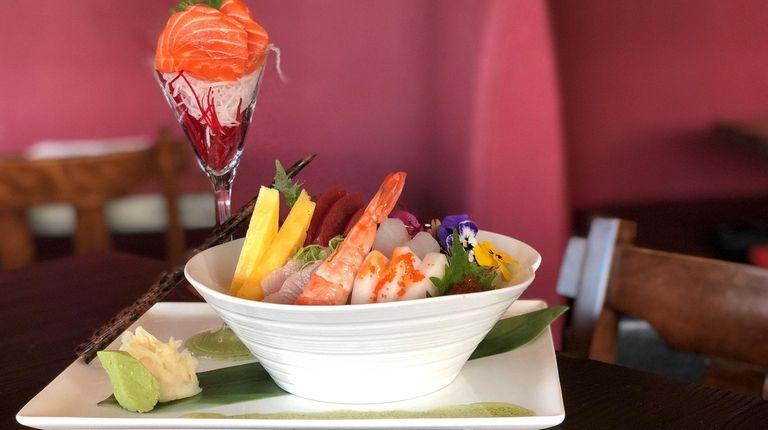 The chirashi at Onsen Sushi in Woodbury is