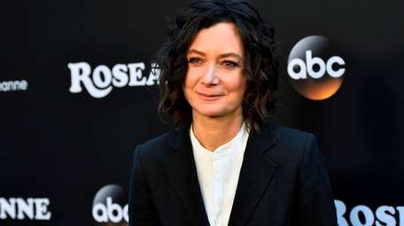 Sara Gilbert attends the 2018 premiere of ABC's