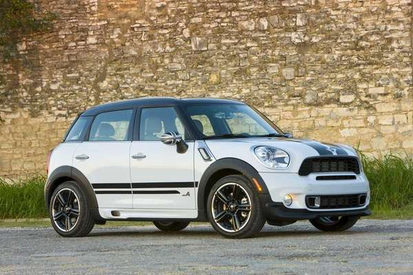 The 2011 Mini Cooper Countryman is 15 inches