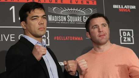 Lyoto Machida and Chael Sonnen appear at a