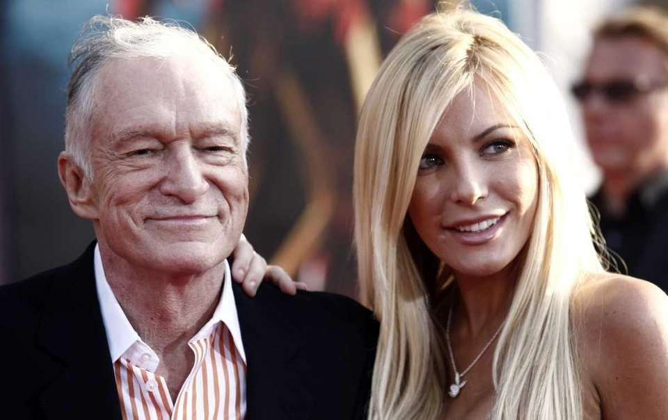 Hugh Hefner and Crystal Harris arrive at the