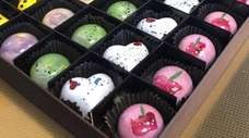 The chocolates at COCO Confections & Coffee in