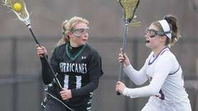 Westhampton's Hollie Schleicher (11) looks to get around