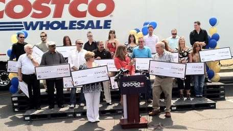 The winners of the $201 million Powerball ticket,