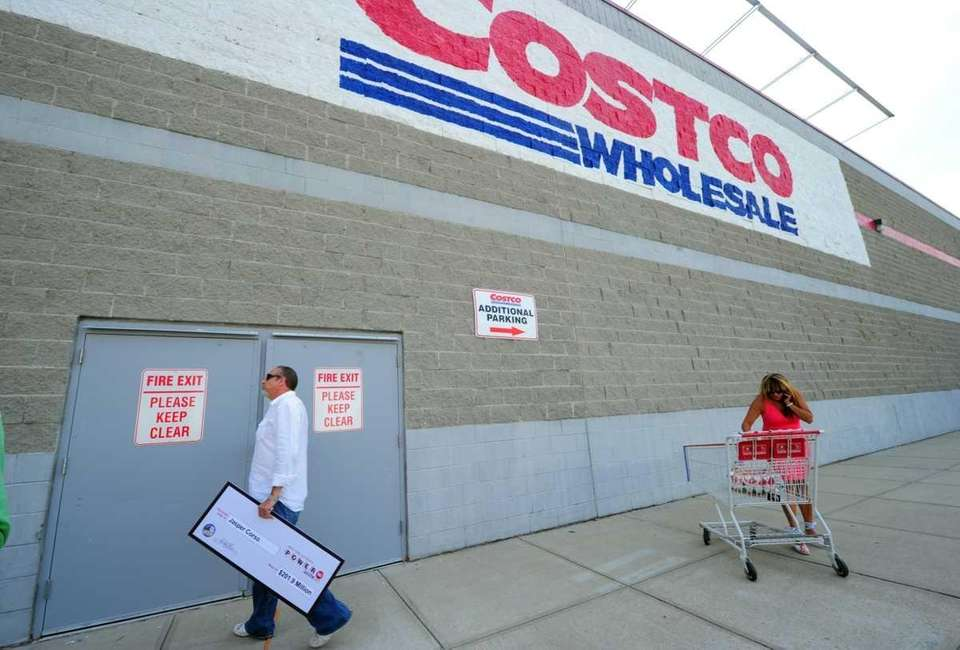 The scene outside the Melville Costco, workplace of